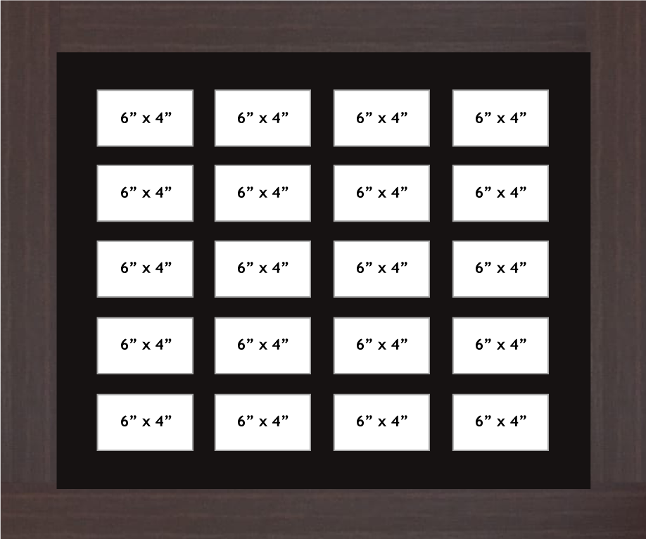 Multi Aperture photo frame fits 20 6x4 photos multi-picture portrait