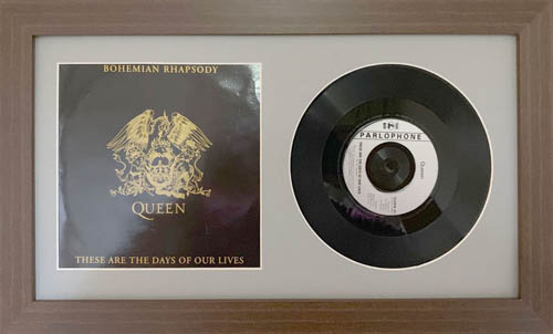 12 Inch Single Vinyl LP Record Frame with Album Cover