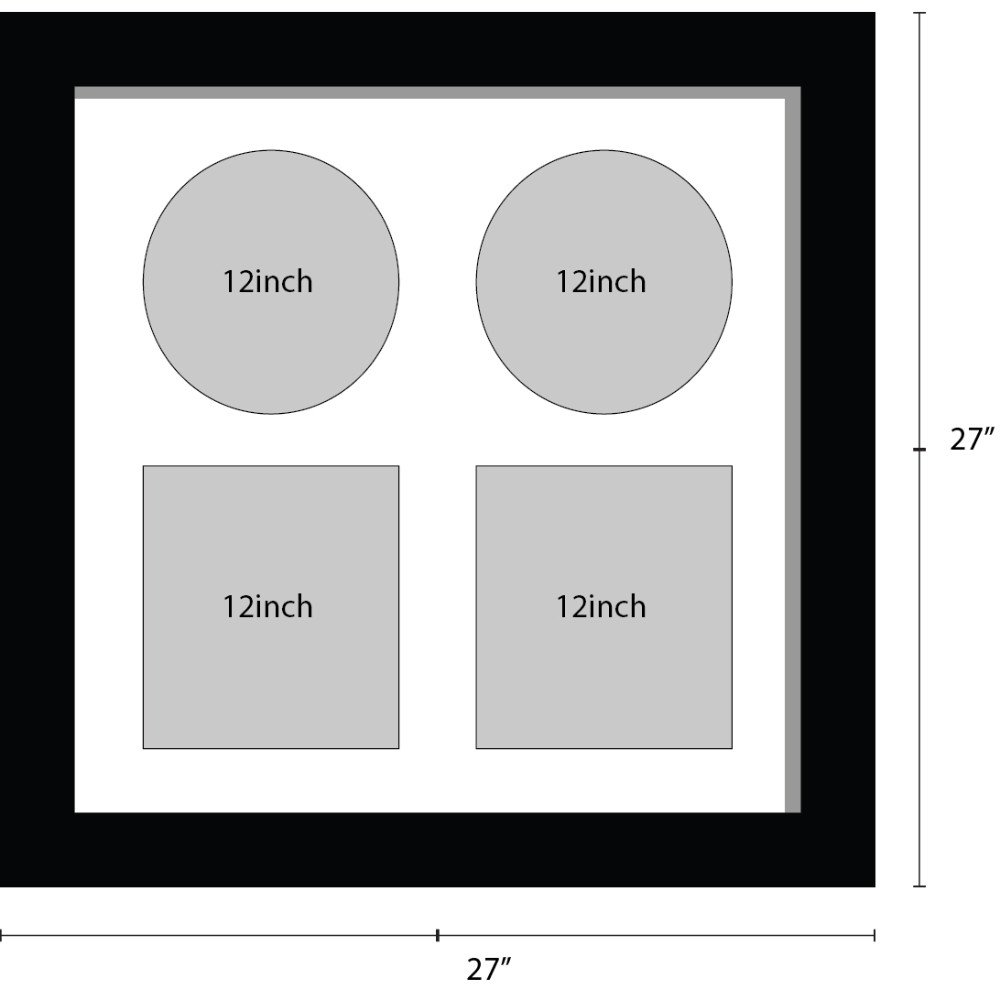 12 inch Vinyl Record Frame for 2x records and 2x Square Sleeves Music Memorabilia Frame