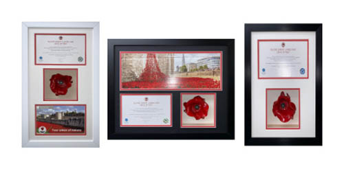 Tower of London Poppy Frame