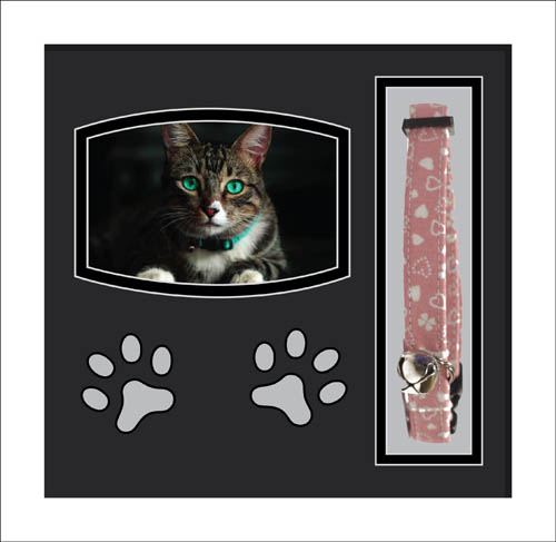 Cat Bereavement Personalised Photo Picture frame Cat Collar Memory frame