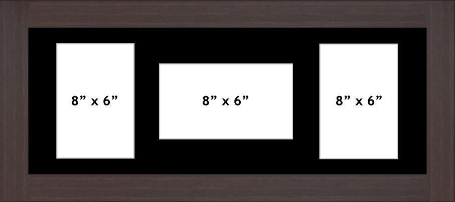MULTI APERTURE PHOTO FRAME FITS 3 8 x 6 PHOTOS Multi-Picture Frames