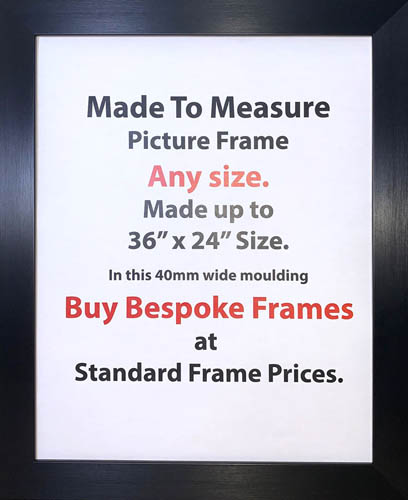 Bespoke Custom Made Commercial Picture Framing Services | 40mm Wide Moulding