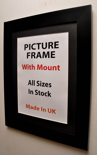 40mm Black Picture Frame with Multiple Mount