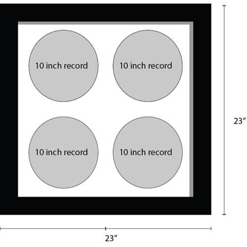 10 Inches Vinyl Record Frame For 4x Records Music Memorabilia Frame