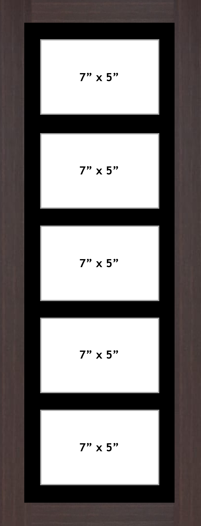 Multi Aperture picture frame fits 5 7x5 photos frames