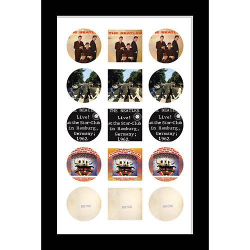 Large Cd/Music Cover Beatles Music Memorabilia Picture Frame To Fit Cd And Album