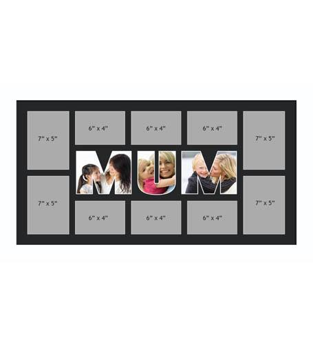 MUM Photo Frames Personalised Name Frames - Large Multi MUM Word Photo 3D Frames