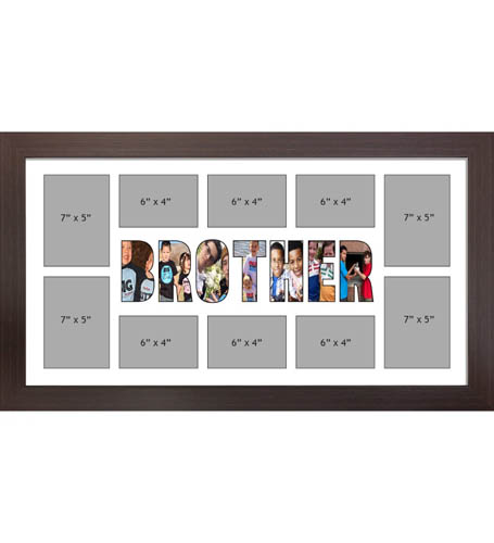 BROTHER Photo Frame Personalised BROTHER Frame | Large Multi BROTHER Word Photo 3D Frame
