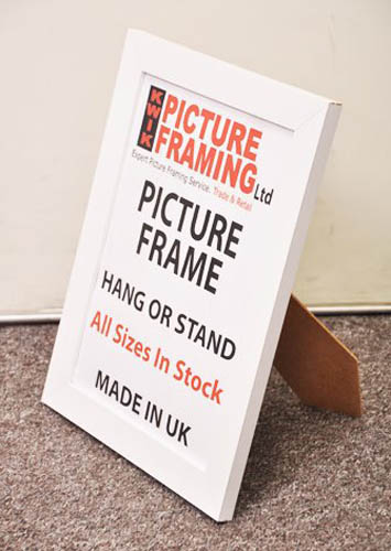 Flat White Picture Photo Frame 30mm ( All Sizes Available)