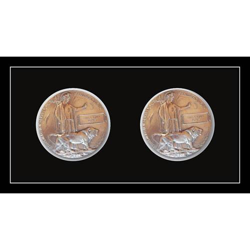 2X Memorial Plaque Medal Frame 3D Box Display Frame For World War Military Memorial Plaque