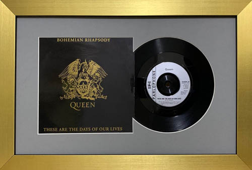 10 Inch Single Vinyl LP Record Frame with Album Cover (Merged)