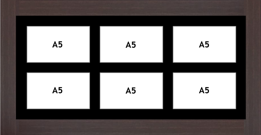 Multi Aperture Photo frame fits 6 A5 photos multi-picture frames