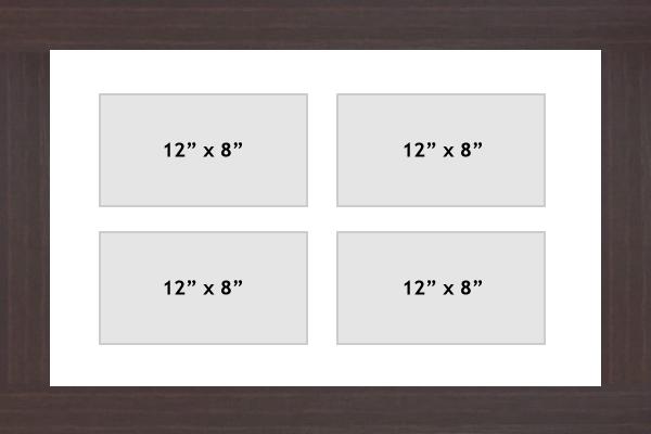 Multi Aperture picture frame fits 4 A5 photos frames landscape