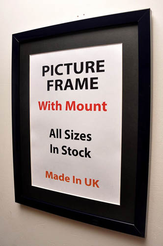20mm Black Picture Frame with Black Mount