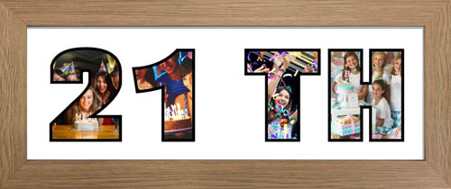 21TH Photo Frame Personalised Name Frame | 21 Word Photo 3D Frame For 21TH BIRTHDAY