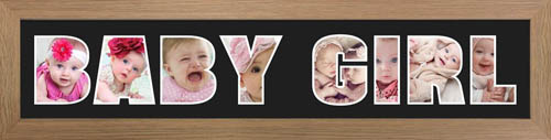 BABY GIRL PHOTO Frame Personalised Name Frame | BABY GIRL Word PHOTO 3D Frame For BABY GIRL