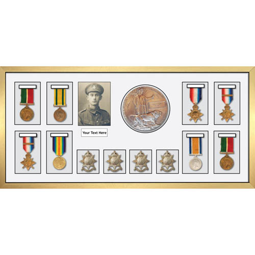 3d Box Display Medal Frames World War Military Medals-8, Memorial Plaque-1 & Medal Badges-4