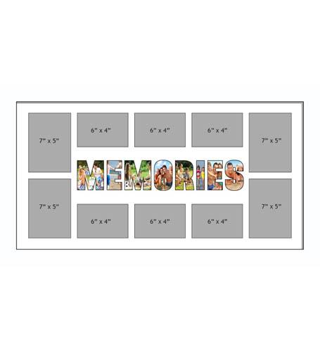MEMORIES Photo Frame Personalised Name Frames | Large Multi MEMORIES Word Photo 3D Frame