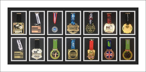 Sport Medal Display Case Frame for Large Sport Medal With Ribbons