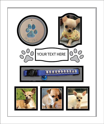 "In Loving Memory, Personalised Pet Photo frame Black 20"" x 16"" Cat Dog Animals"