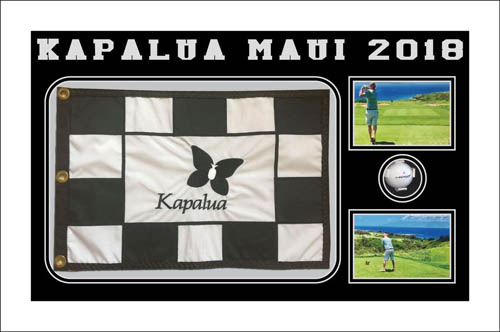 Frame Display For Golf Flag and Golf Ball Masters and Open Ryder Cup