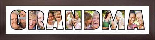 GRANDMA Photo Frame Personalised Name Frame   GRANDMA Word Photo 3D Frame For GRANDMA
