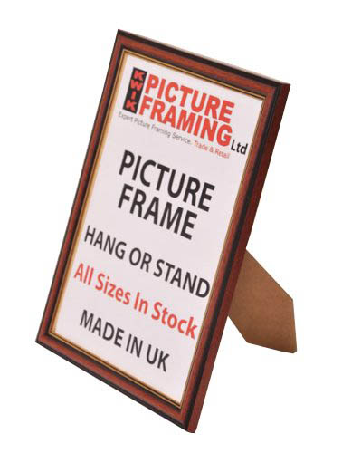 0.50 Inch Mahogany with Gold line Frame (Available in All Sizes)