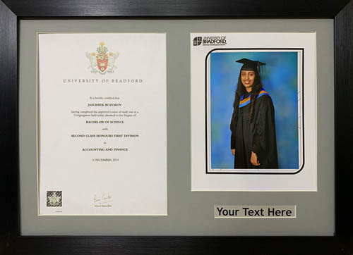 "Graduation Picture Photo Frames 10"" x 8"" Photograp A4 Certificate 30mm Moulding"