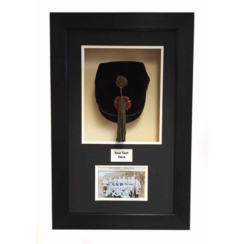 SPORTS MEMORABILIA/3D DISPLAY CASE FOR VINTAGE VICTORIA RUGBY LEAGUE CAP 1899