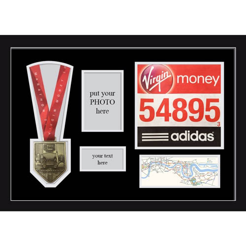 London Marathon 2019 Display Frame for medal, Title and Photo
