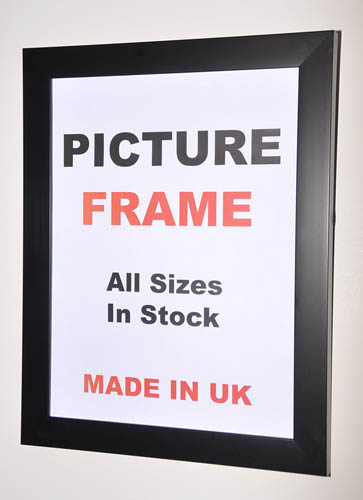 Flat Black Picture Photo Frames (All Sizes Available)