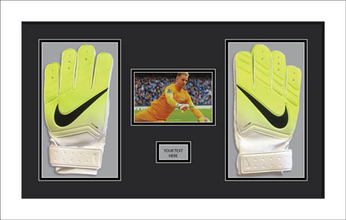 Goalie Glove Display Case Frame for any size football goalie glove