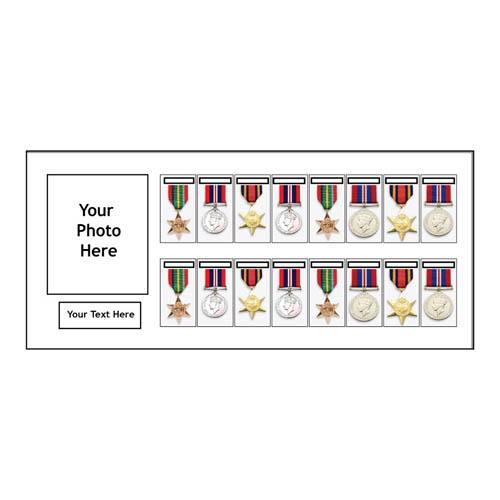 Medal Frames With Photo In 3D Box Display For 16x World War Military Single Or Group Medals