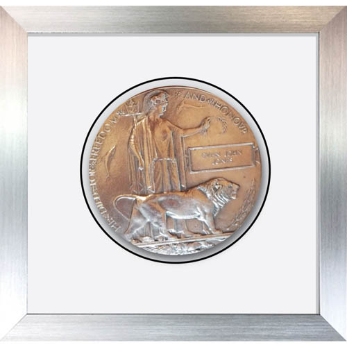 Memorial Plaque Medal Frames for World War Military in 3D Box Display Frame Case