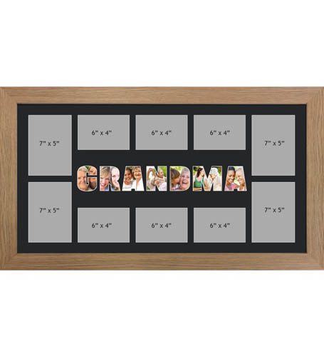 GRANDMA Photo Frame Personalised GRANDMA Frame | Large Multi GRANDMA Word Photo 3D Frame