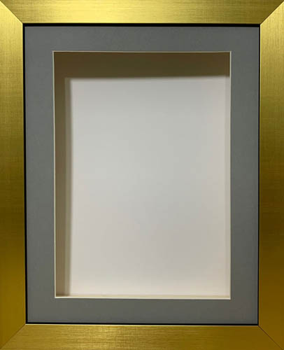 Grey Mount 2 Inch Deep Shadow 3D Box Picture Frame