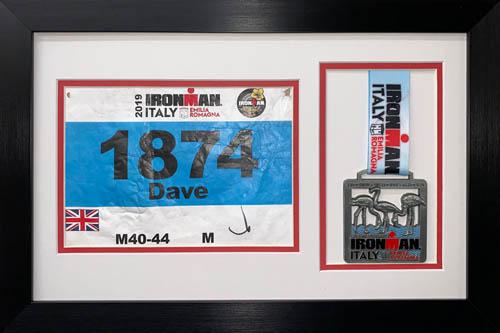 "3D Frame For Ironman, Triathlon Marathon, Medal - 4"" x 5"" And Running Badge - 8"" x 6"" Display Frames - 19"" x 14"""