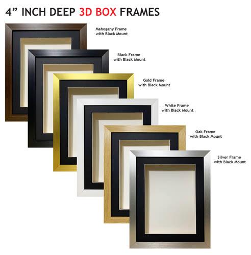 4-Inch-Deep 3D Box Frames
