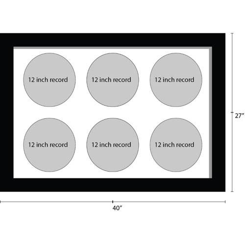 12 Inches Vinyl Record Frame For 6x Records Music Memorabilia Frame