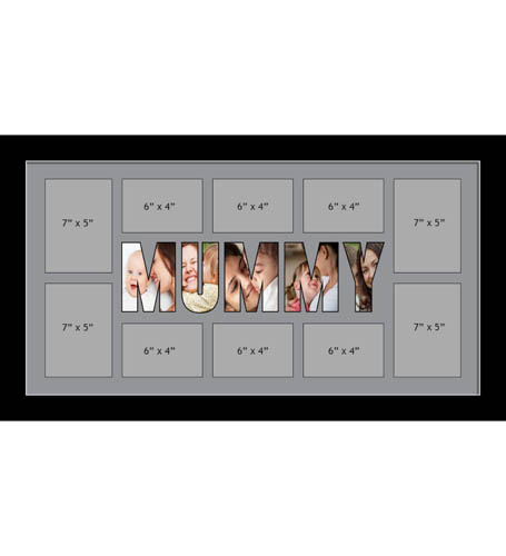 MUMMY Photo Frames Personalised Name Frames - Large Multi MUMMY Word Photo 3D Frames