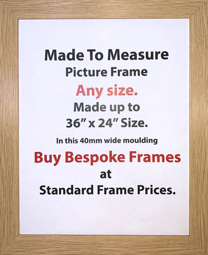 Custom Made Customized Picture Printing Framing Online Shop | 40mm Wide Moulding