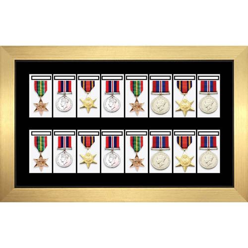 Medal Framing 3D Box Display Frame Case For 16X World War Military Single Or Group Medals