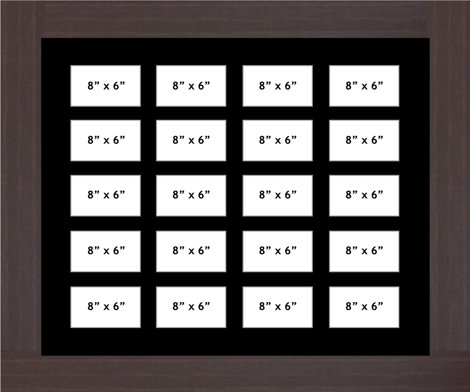 Multi Aperture photo frame fits 20 8x6 photos multi-picture portrait