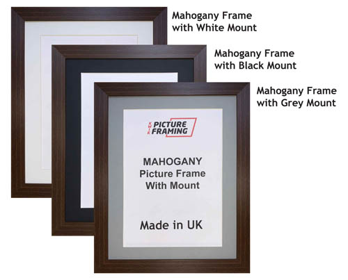 Mahogany Picture Frame with Mount