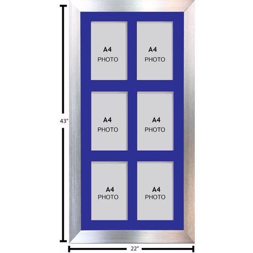 Large Multi Picture Photo Aperture Frame A4 size with 6 openings portrait