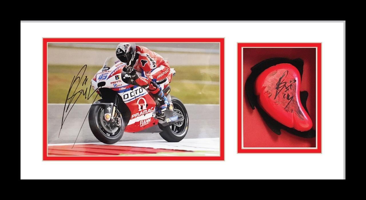 "Moto GP Display Frame for 10"" x 8"" Signed Photo and Knee Slider"