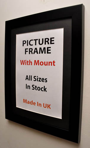 30mm Black Picture Frame with Multiple Mount