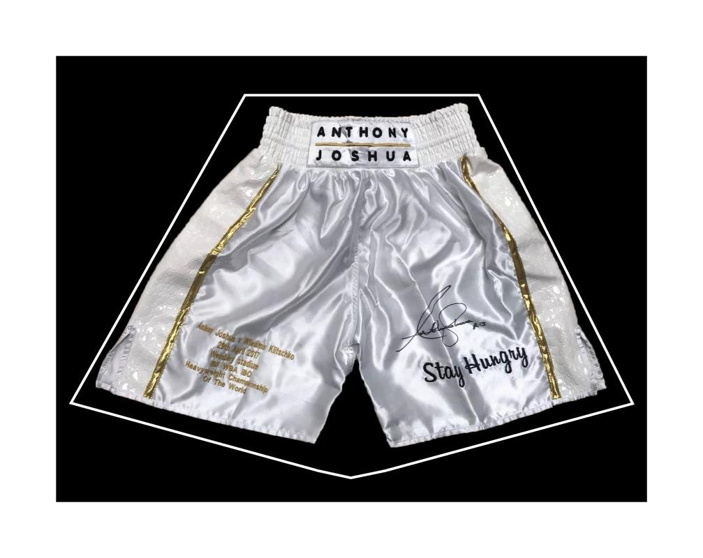 DIY Boxing Shorts Frame For Boxer Anthony Joshua