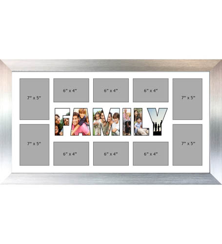 FAMILY Photo Frame Personalised FAMILY Frame | Large Multi FAMILY Word Photo 3D Frame
